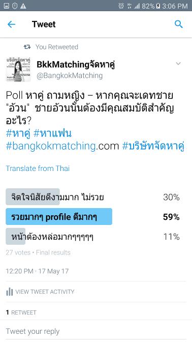 4 Poll บริษัทจัดหาคู่ bangkokmatching.com บริษัทหาคู่ บริการหาคู่ หาคู่ หาแฟนจริงจัง