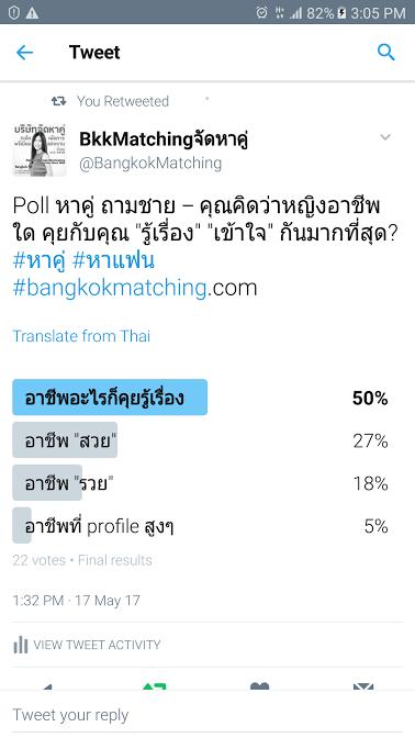 1 Poll บริษัทจัดหาคู่ bangkokmatching.com บริษัทหาคู่ บริการหาคู่ หาคู่ หาแฟนจริงจัง