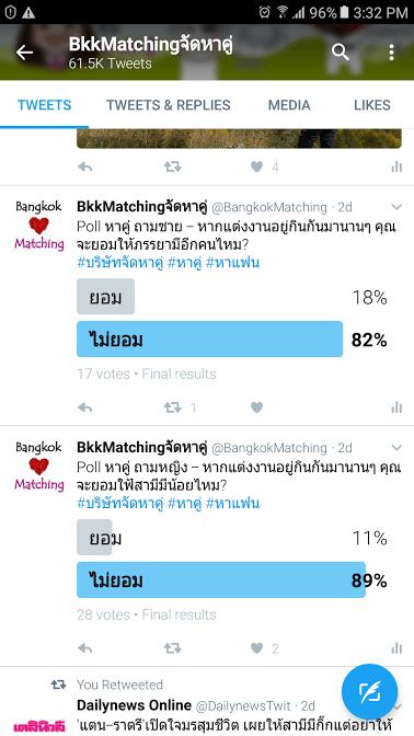 561 Poll บริษัทจัดหาคู่ bangkokmatching.com บริษัทหาคู่ บริการหาคู่ หาคู่ หาแฟนจริงจัง