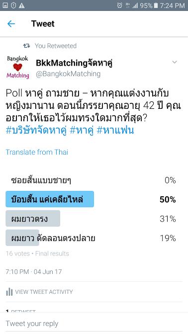 761 Poll บริษัทจัดหาคู่ bangkokmatching.com บริษัทหาคู่ บริการหาคู่ หาคู่ หาแฟนจริงจัง