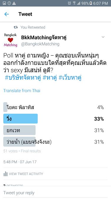 1262 Poll บริษัทจัดหาคู่ bangkokmatching.com บริษัทหาคู่ บริการหาคู่ หาคู่ หาแฟนจริงจัง