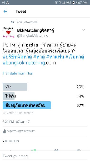 1263 Poll บริษัทจัดหาคู่ bangkokmatching.com บริษัทหาคู่ บริการหาคู่ หาคู่ หาแฟนจริงจัง
