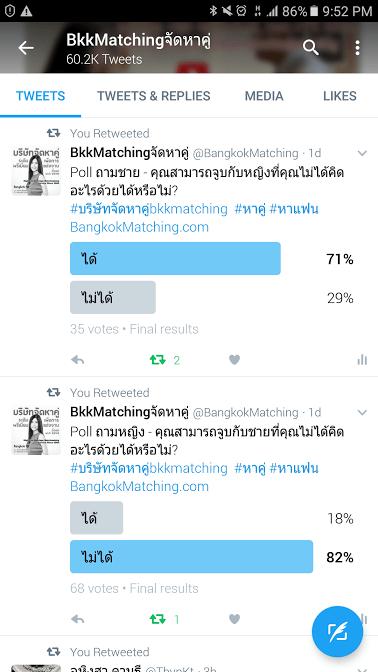 1561 Poll บริษัทจัดหาคู่ bangkokmatching.com บริษัทหาคู่ บริการหาคู่ หาคู่ หาแฟนจริงจัง