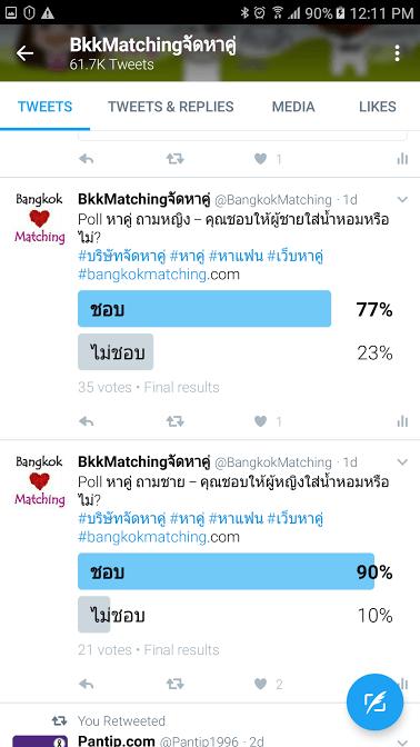 1761 Poll บริษัทจัดหาคู่ bangkokmatching.com บริษัทหาคู่ บริการหาคู่ หาคู่ หาแฟนจริงจัง