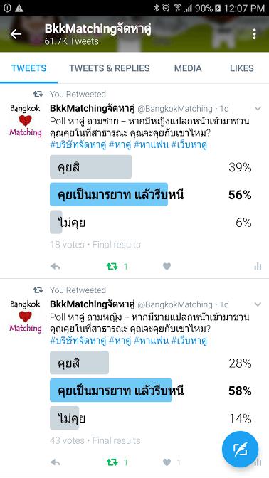 1762 Poll บริษัทจัดหาคู่ bangkokmatching.com บริษัทหาคู่ บริการหาคู่ หาคู่ หาแฟนจริงจัง