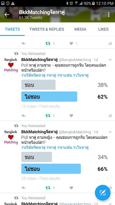 1763 Poll บริษัทจัดหาคู่ bangkokmatching.com บริษัทหาคู่ บริการหาคู่ หาคู่ หาแฟนจริงจัง