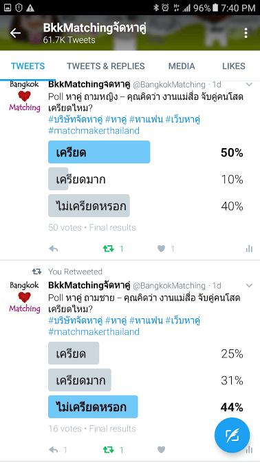 2162 Poll บริษัทจัดหาคู่ bangkokmatching.com บริษัทหาคู่ บริการหาคู่ หาคู่ หาแฟนจริงจัง