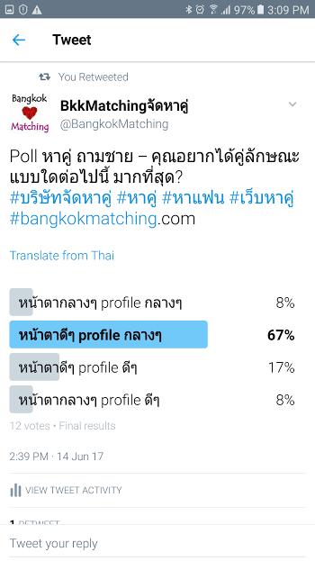 2163 Poll บริษัทจัดหาคู่ bangkokmatching.com บริษัทหาคู่ บริการหาคู่ หาคู่ หาแฟนจริงจัง